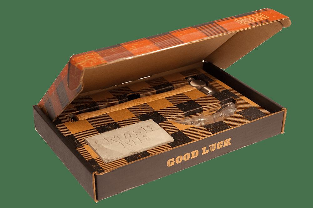 Smash and Grab Gift Card ships in a cardboard box.