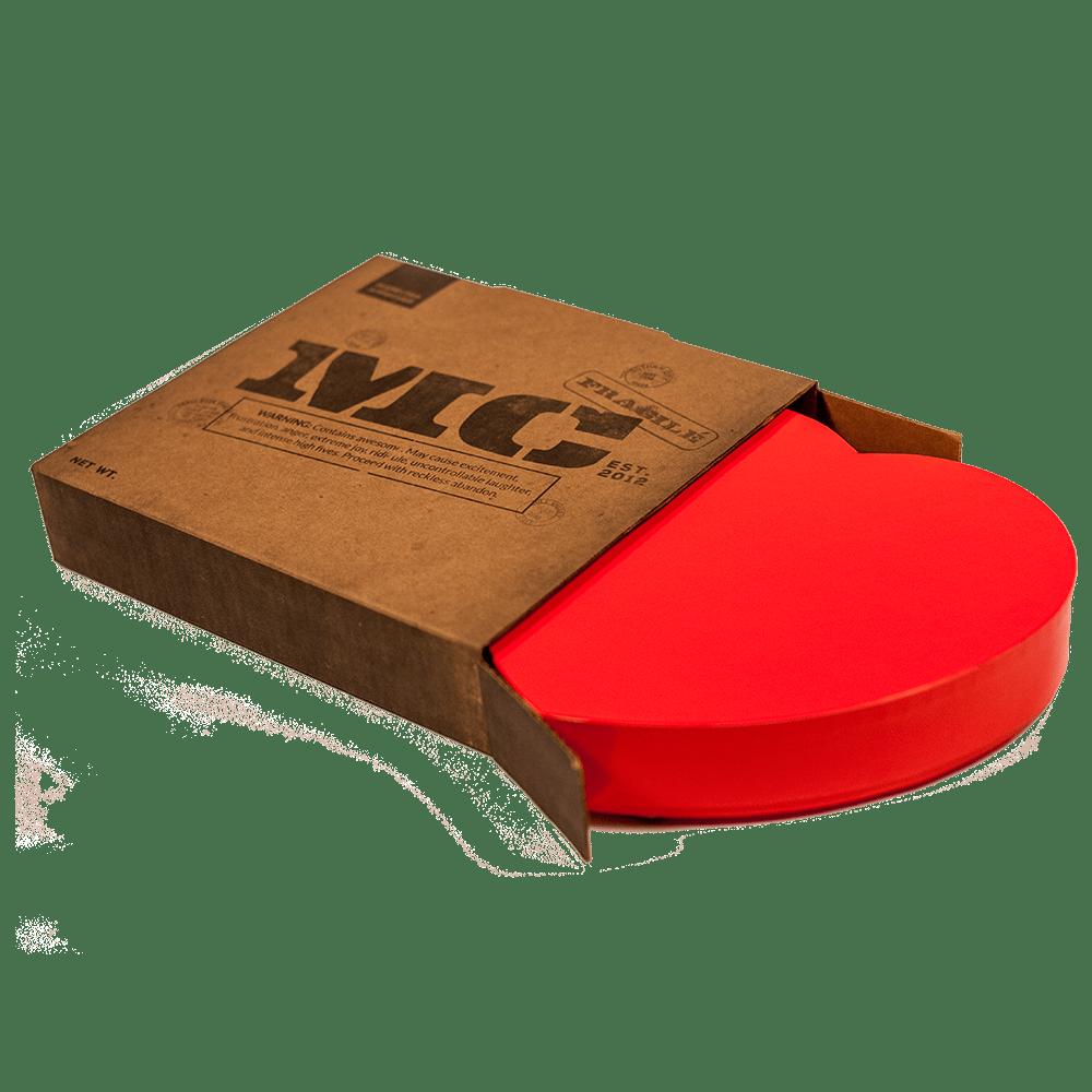 Jerkyhearts ship in a cardboard box.