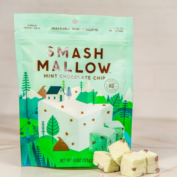 Marshmallows, especially the roasted kind, are the perfect holiday gift this winter. Sweeten up his stocking with these minty fresh Smash Mallows.