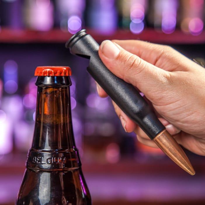 Bottle opener in action