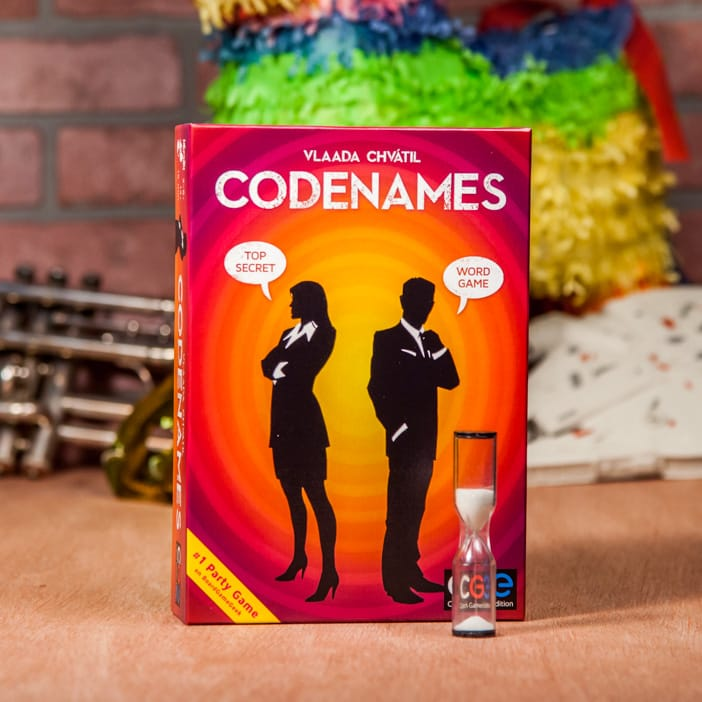 This game is part spy and part thesaurus. Code Names was the Winner of the 2016 Spiel Des Jahres (which is like the Person of the Year Award except for board games), and we stand behind their awards commission standing behind this game. These short and intense rounds will test his handle of the English language and his ability to think like the other people on his team.