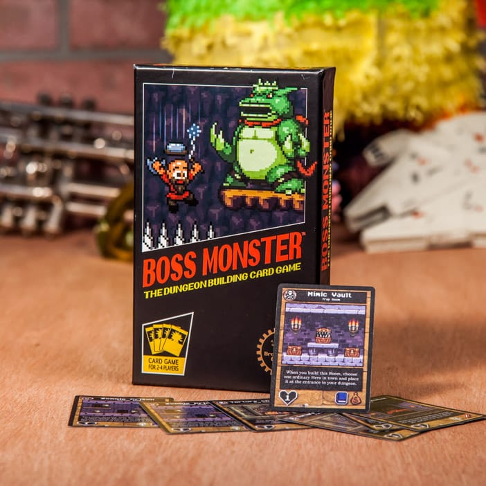 For the more intimate game night crowd, Boss Monster lets 2-4 players embody the most vile villains of the 8-bit world. Build a dungeon, lure in heroes, and laugh maniacally throughout the night.