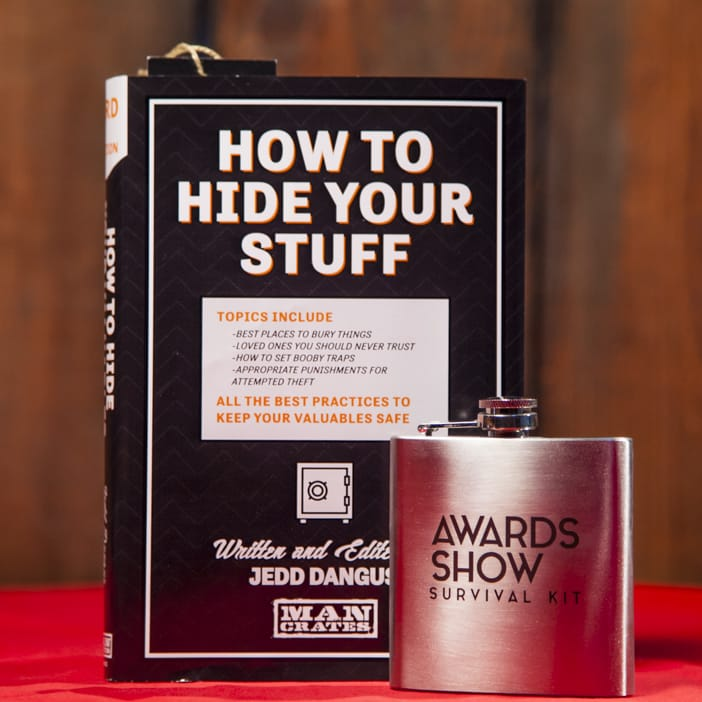 But why should celebrities have all the fun? If you know a leading man that would love to drink like the stars, give him the Hollywood treatment with our limited-edition Awards Show Survival Kit flask.