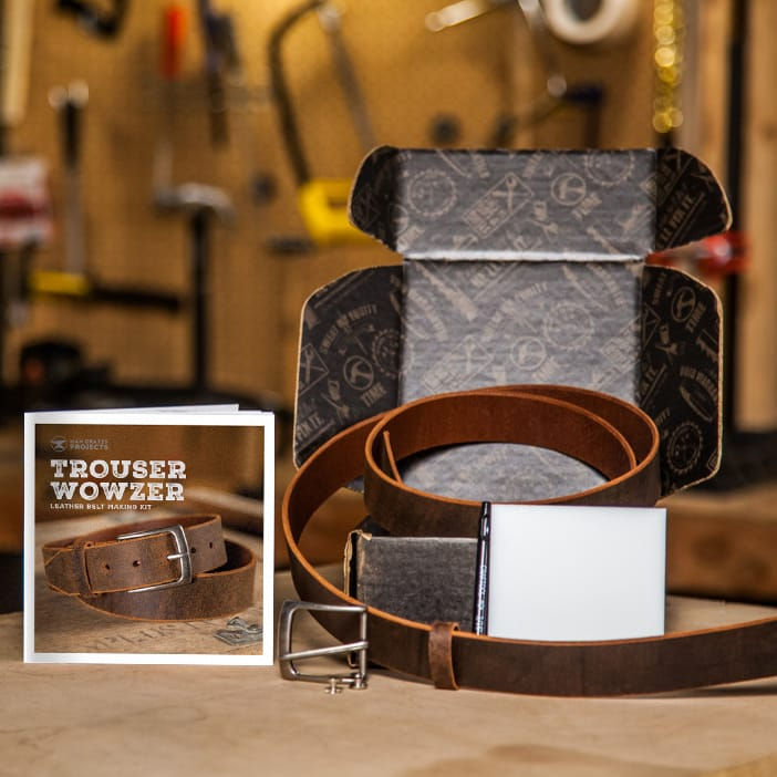 Leather Belt and instruction booklet is a great men's DIY gift.