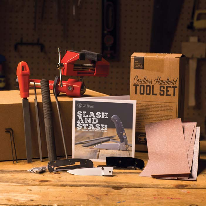 Folding Knife Making Kit Components