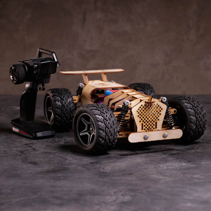 Wooden RC Car Kit