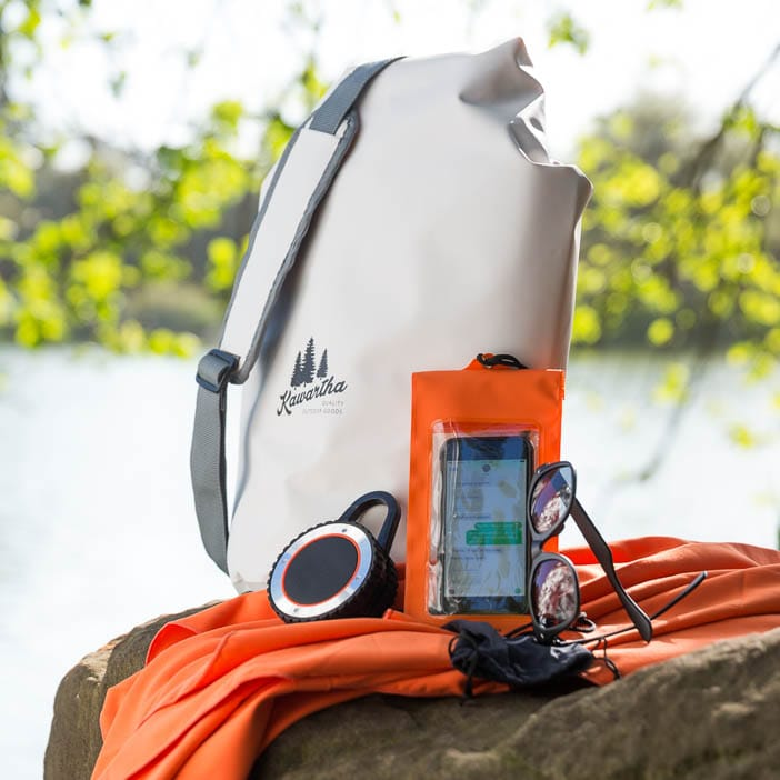 Never worry about sacrificing your things to water with our On the Water Pack