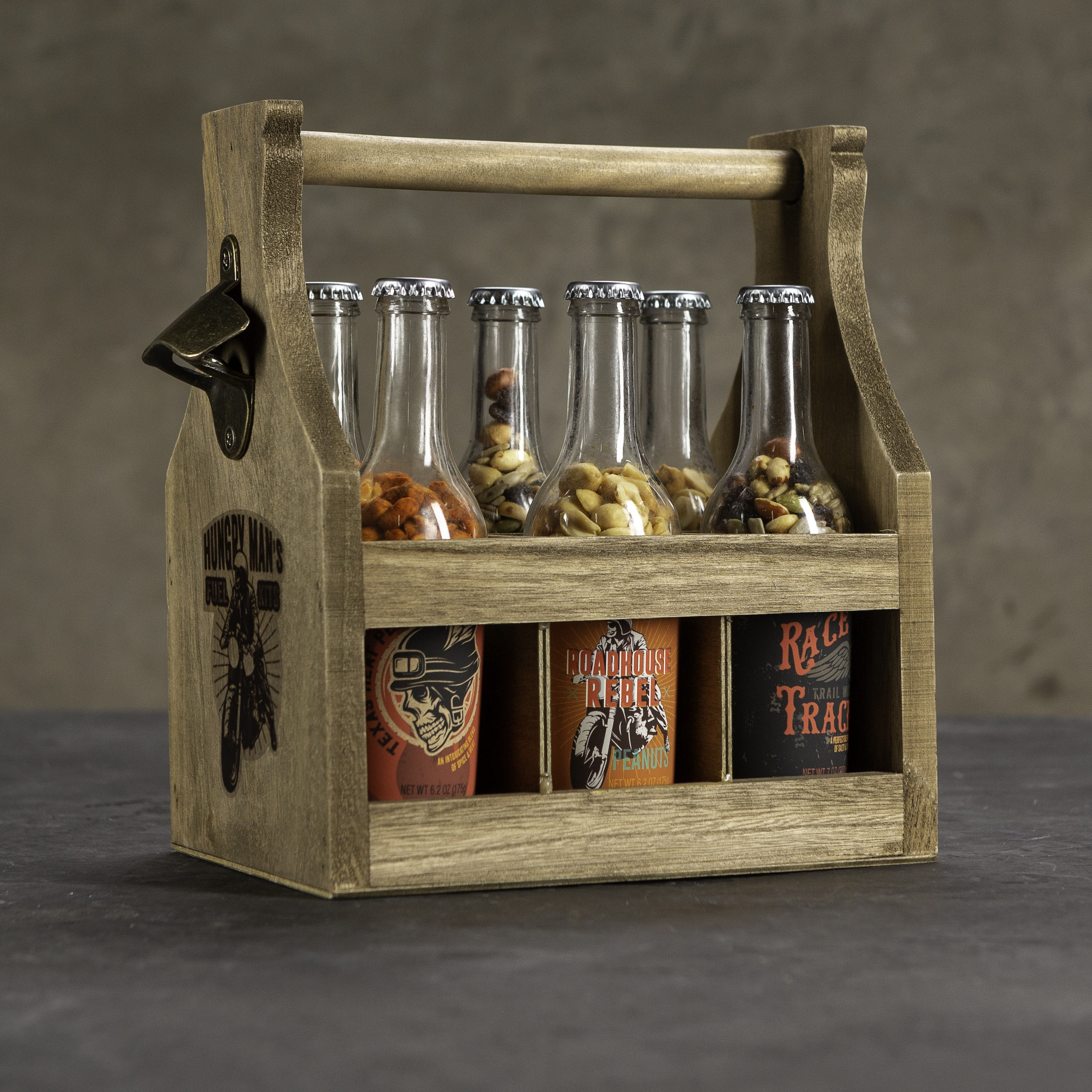 Full nut caddy with bottles
