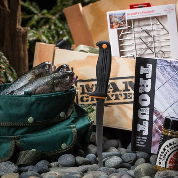 The Troutdoorsman Crate is the ultimate gift for trout fishermen.
