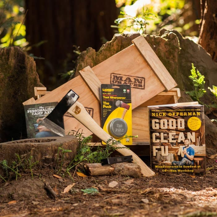Personalized Camp Axe Crate