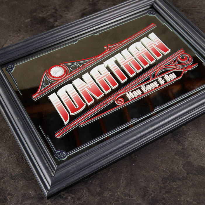 Personalized Mirror Bar Sign