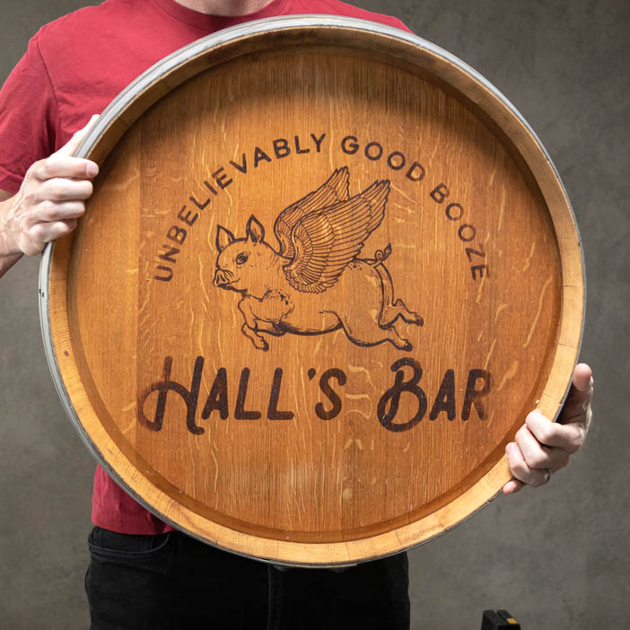 Personalized Barrel Sign