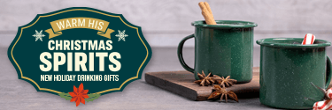 Warm His Christmas Spirits - New Holiday Drinking Gifts! Shop Now!