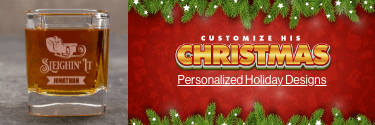 Customize His Christmas - Personalized Holiday Designs! Shop Now!