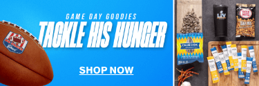 Game Day Goodies - Tackle His Hunger! Shop Now!