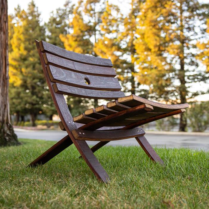 DIY Barrel Stave Chair