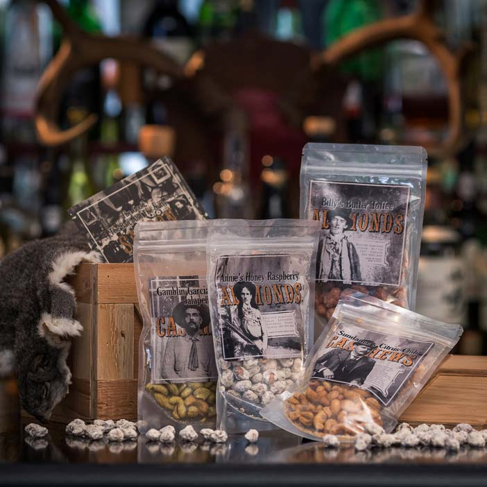 Western style Saloon Nuts gift.