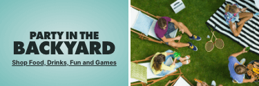 Party in the Backyard! Shop Food, Drinks, Fun, & Games - Shop Now!