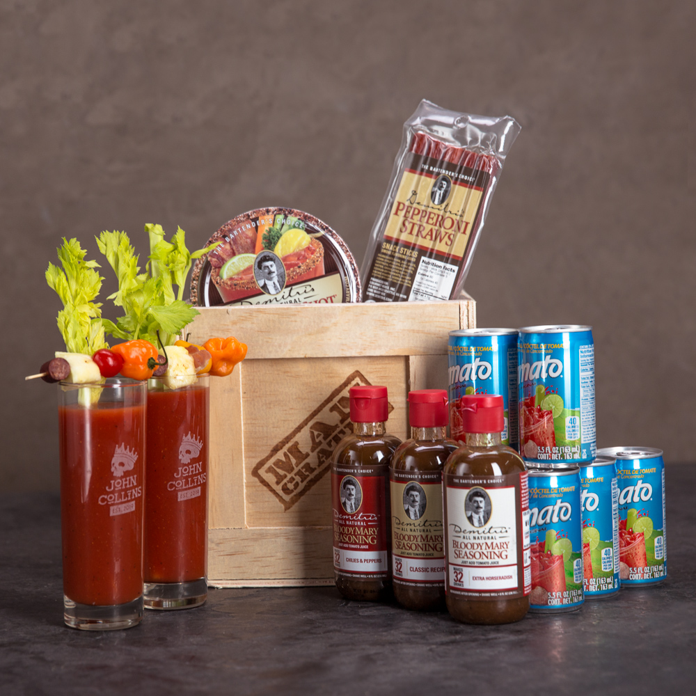 Make delicious Bloody Mary cocktails with bacon!