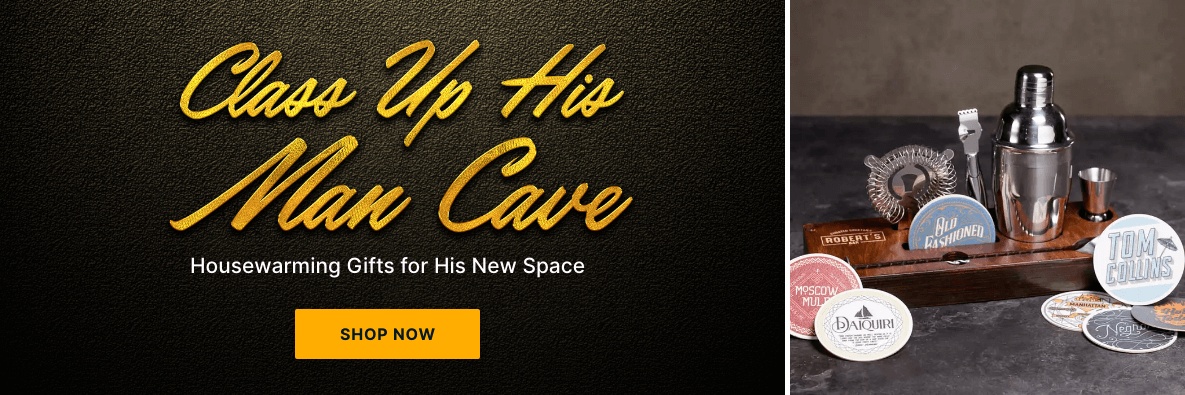 Class Up His Man Cave! Housewarming Gifts for His New Space - Shop Now!