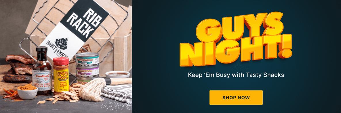 Guys Night! Keep 'Em Busy With Tasty Snacks - Shop Now!