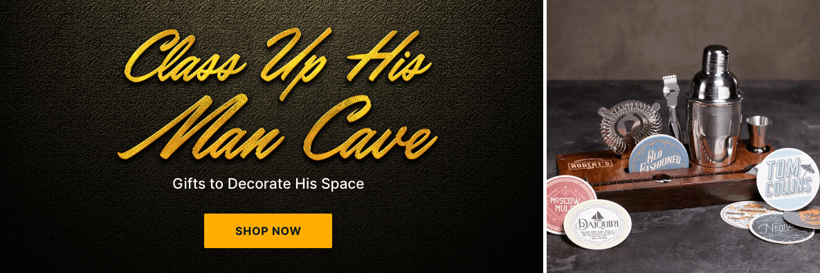 Class Up His Man Cave! Gifts to Decorate His Space - Shop Now!